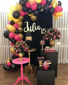 Party Pink Decorations Diy Bridal Shower Ideas For 2019 Bachelorette Party Decorations, Balloon Decorations Party, Birthday Party Decorations, Baby Shower Decorations, Birthday Parties, Pink Decorations, Party Themes, Birthday Balloons, Teen Birthday