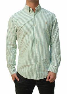 3c59db6e Ralph Lauren Mens Custom Fit Button Down Shirt Pony Logo (XXL) at Amazon  Men's Clothing store: