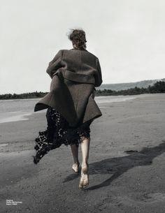 Stella McCartney's dress shot for Elle Serbia