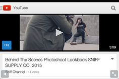 Check this out!!  Behind The Scenes photoshoot Lookbook SNIFF SUPPLY CO. 2015 at www.youtube.com/watch?v=KYGIoRca5ho