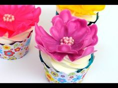 Easy Chocolate Flower | Cupcake Decorating - YouTube  Temper the choc first                                                                                                                                                                                 More