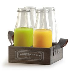 Found it at Wayfair - Country 5 Piece Milk Bottles and Tray Set