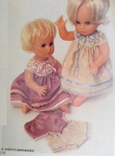 Sarie Handwerk, Somer uitrusting vir 'n First Love Pop / doll. Number 6 Partytjie rokke, broekie en skoentjies. Patterns in Afrikaans. Use coupon to obtain English copies.