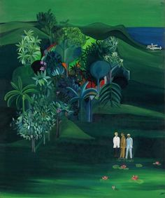 """Bhupen Khakhar, """"American Survey Officer,"""" 1969, oil on canvas, brought $401,000 at Sotheby's."""