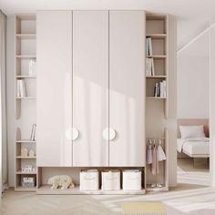 Kids Bedroom Designs, Kids Room Design, Shelf Design, Cabinet Design, Interiores Design, Girl Room, Home Interior Design, Room Inspiration, Furniture Design