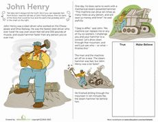John Henry Tall Tale Worksheet
