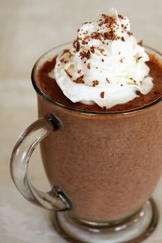 Frozen Hot Chocolate from favfamilyrecipes.com #chocolate #dessert #recipes