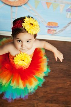 Rainbow Tutu Dress, Over the Rainbow, Rainbow Tutu, Tu Tu, 1st Birthday, 2nd Birthday, Rainbow Birthday, Rainbow Brite, OOC, Pageant Dress by willowlaneboutique, $49.00 #zibbet
