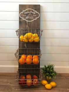 Your place to buy and sell all things handmade Farm Fresh Produce Hanger/Fruit Bowl/Kitchen Organization/Farmhouse Kitchen Decor/Rustic Decor/Kitchen Decor/Metal Baskets Farmhouse Kitchen Decor, Home Decor Kitchen, Kitchen Interior, New Kitchen, Country Kitchen, Decorating Kitchen, Kitchen Ideas, Beech Kitchen, Order Kitchen