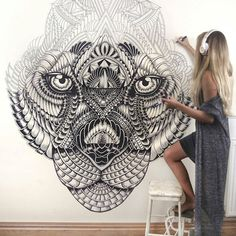 She's making amazing wall paintings and she is from Brazil @Fayehallidayart  #ui #userinterface #interface #iphoneapp #app #appdesign #graphic #design #digital #wireframe #inspiration  #photoshop #materialdesign #webdesigner #illustrator #adobe #creative #html #art #minimal #webdesign #branding #uidesign #website #dribbble #graphicdesign #behance #portfolio #ux #dailyui by graphicdesignui