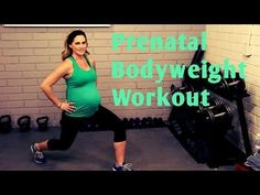 25 Minute Prenatal Bodyweight Workout---No equipment workout for 1st, 2nd and 3rd Trimesters - YouTube