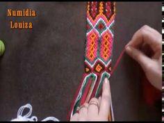 Ceinture kabyle, aguss, Partie 2 - YouTube Crochet Backpack, Crochet Pouch, Crochet Bracelet, Diy Crochet, Crochet Stitches, Tapestry Crochet Patterns, Crochet Mandala, Macrame Patterns, Bow Drawing
