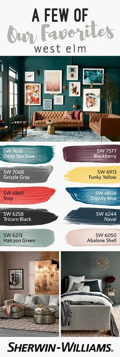 New Living Room Grey White Yellow Paint Colors Ideas Modern Paint Colors, Wall Colors, House Colors, Paint Colours, Western Paint Colors, Paint Schemes, Colour Schemes, Colour Palettes, House Color Schemes Interior