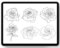 Rose Tattoos, Flower Tattoos, When You Leave, Brush Sets, Love Rose, Digital Form, Learn To Draw, Buy 1, Artist At Work