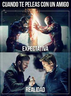La verdad Marvel Comic Universe, Marvel Dc Comics, Marvel Funny, Marvel Memes, Cultura Nerd, Mundo Marvel, Avengers Cast, Funny Times, Spanish Memes