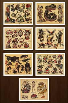 38 Best 1930 Vintage Tattoo Flash Pages Images Retro Tattoos