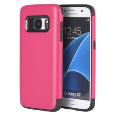 DW Crash Guard Dual-Shell Samsung Galaxy S7 Case - Hot Pink