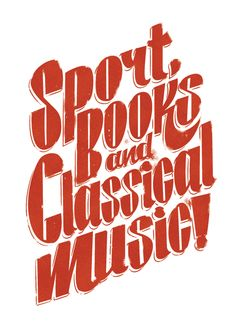Sport book and Classical music