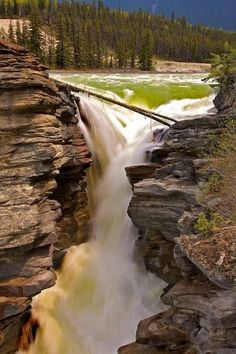 Picturesque Waterfall in Canada -Athabasca Falls Oh The Places You'll Go, Places Around The World, Places To Travel, Places To Visit, Most Beautiful, Beautiful World, Beautiful Places, Amazing Places, Beautiful Waterfalls