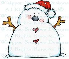Santa Snowman - Snowmen Images - Snowmen - Rubber Stamps - Shop