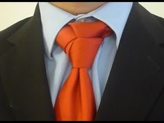 How to tie the Rose Knot for your necktie. Men's fashion
