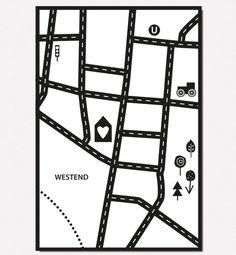 """Teppich-Idee """"Meine Straße"""" – Bodenschätzchen I Individuelle Kinderteppiche selbst gestalten"""