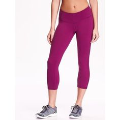 Old Navy Womens Compression Crops ($25) ❤ liked on Polyvore featuring activewear, activewear pants, petite, purple pizazz poly, petite sportswear, old navy, petite activewear, petite activewear pants and old navy activewear