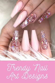 30 Adorable Nail Art Designs of 2019 Let mama cook delicious cookies. You just sit back and Adorable Nail Art Designs of Ballerina Nails in Muted ColorsThis Cute Pink Nails, Pink Glitter Nails, Pink Acrylic Nails, Pink Nail Art, Gel Nails, Nail Polish, Pastel Nails, Pink Tip Nails, Pink Acrylic Nail Designs