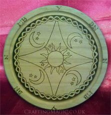 Wooden Hand Crafted Moon and Stars Pendulum Board