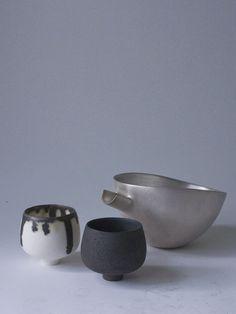 Milk clays sake cup - RYOTA AOKI POTTERY ONLINE STORE