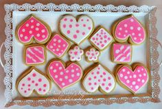 Sugar Spice and Spilled Milk: Learning to Decorate Sugar Cookies with Royal Icing Royal Icing Decorated Cookies, Royal Icing Decorations, Valentines Day Food, Valentine Cookies, Heart Cookies, Cut Out Cookies, Almond Sugar Cookies, Halloween Sugar Cookies, Love Holidays