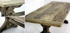 I love the look of furniture made from reclaimed wood. Stylish plus it's environmentally conscious.