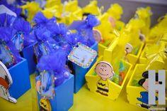 Lembrancinhas da festa do Snoopy