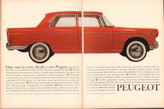 1961 Peugeot 404 Advertisement Motor Trend May 1961 por SenseiAlan Peugeot, Michelin Tires, Car Advertising, Car Photos, Car Car, My Images, Vintage Cars, Cool Cars, Airplanes