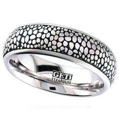 Geti Stingray Titanium Ring