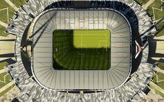 Download wallpapers Juventus Arena, 4k, Allianz Stadium, football stadium, Juventus, Turin, Italy, top view