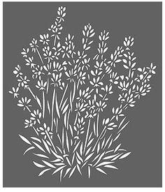 Flower Stencils Lavender Stencil