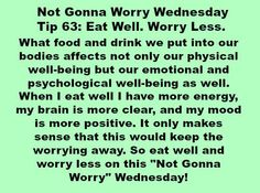This Not Gonna #Worry Wednesday Tip 63: Eat Well. Worry Less. inspired by @whole30 eating plan