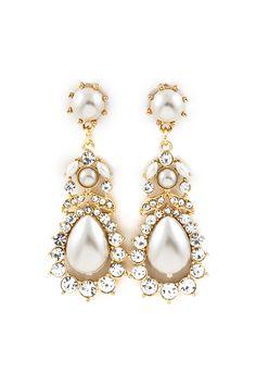 Lamire Chandelier Earrings in Pearlescence.
