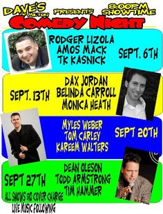 This Sat night 9/27 I'll be headlining the famous Dave's in Milton (just outside Tacoma), one of the best comedy venues in the NW. Really. Hope to see you there.