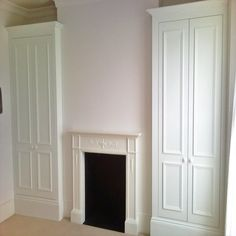 chimney alcove ideas cupboards - Google Search