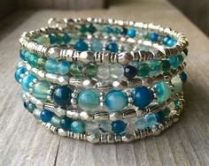 Bright N' Blue Multi Strand Memory Wire by McHughCreations on Etsy