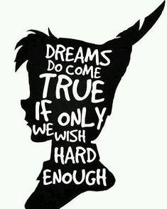 Disney quote Inspirational Peter Pan, Dreams Peter Pan Quote Silhouette ' Art Print by Alyssa Clark Disney Peter Pan Silhouette, Silhouette Art, Panpan Disney, Disney Love, Disney Fonts, Art Mots, Citations Disney, Disney Peter Pan, Peter Pan Quotes