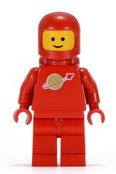 Buy LEGO Red Classic Space astronaut Minifigure from the LEGO Space theme. Lego Custom Minifigures, Lego Minifigs, Lego Space Sets, Space Toys, Legos, Lego Vintage, Lego People, Lego System, Infancy