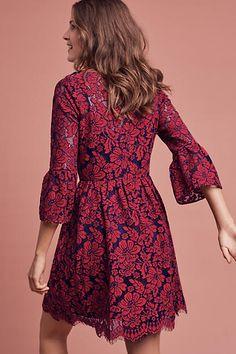 Tava Lace Swing Dress, Purple - anthropologie.com