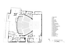 Image 21 of 24 from gallery of Topfer Theatre at ZACH / Andersson Wise Architects. Ground Floor Plan