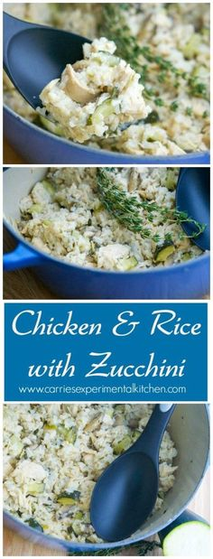 Chicken & Rice with Zucchini | CarriesExperimentalKitchen.com Chicken ...