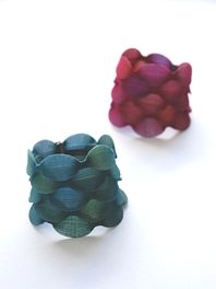 YOKO IZAWA - Veiled Jewellery using knitted Lycra and nylon yarn with perspex, polypropylene