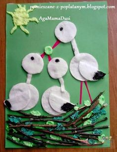 I would change birds. Spring Crafts For Kids, Paper Crafts For Kids, Summer Crafts, Diy For Kids, Diy And Crafts, Arts And Crafts, Diy Paper, Bird Crafts, Animal Crafts