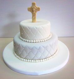 Click para cerrar la imagen Baby Christening Cakes, Baptism Cupcakes, Baptism Party, Comunion Cakes, First Holy Communion Cake, Religious Cakes, Confirmation Cakes, Beautiful Wedding Cakes, Piece Of Cakes